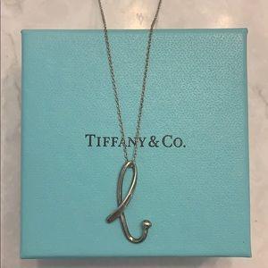 "Tiffany ""B"" necklace"